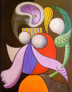 Pablo Picasso Flower | Flower Woman - A picasso 1930s art wallpaper picture