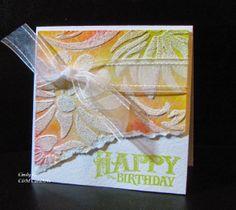 C&M CardArts: Embossing Paste a la Cindy