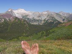 Barefoot on Buckskin Pass, CO