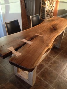 live edge dining table - Google Search
