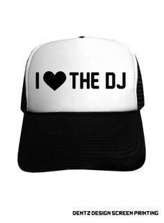 I love the DJ Snapback Trucker Hat Black by DentzDesign on Etsy 4aadca855e59