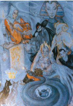 At Home Rosaleen Norton, Satanic Art, Esoteric Art, In The Flesh, Occult, Dark Art, Magick, Dark Side, Mystic
