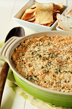 Homemade onion dip, with panko bread crumbs on top. YUM