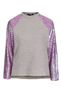 T shirt sequins Top Shop