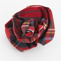 Click here to view larger image Tartan Plaid, Plaid Flannel, Royal Stewart Tartan, Tartan Christmas, Scottish Plaid, Special Occasion Outfits, Fabric Roses, Romantic Outfit, Leather Flowers