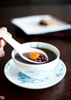 Red bean soup with mandarin peel.   THE LIBYAN Esther Kofod www.estherkofod.com