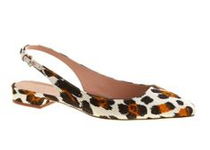 (J. Crew Lucie Printed Slingback Flats)  Lucky Magazine's 25 Ways To Try The Leopard Print Trend
