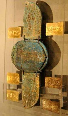 winged god, horus  Winged scarab, Luxor Museum.