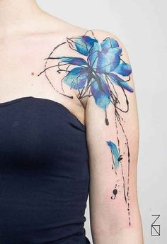 45 incredible watercolor tattoos tattoo pinterest. Black Bedroom Furniture Sets. Home Design Ideas