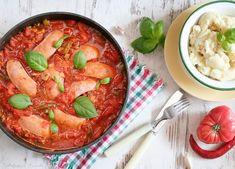 Parówki w sosie pomidorowo-paprykowym