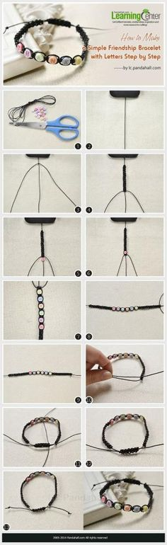 How to Make a Simple Friendship Bracelet with Letters Step by Step by Jersica
