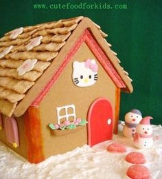 Marshmallow Snowmen and Hello Kitty's Winter Home · Edible Crafts | CraftGossip.com
