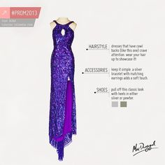 Fashion tips for PURPLE prom-goers!