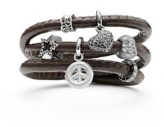 Brown Stitched Story Bracelet