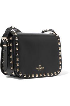 Shop on-sale Valentino The Rockstud leather shoulder bag. Browse other discount designer Shoulder Bags & more on The Most Fashionable Fashion Outlet, THE OUTNET.COM