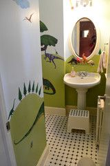 #DinosaurRoom - New Bathroom for kids helps family with potty training