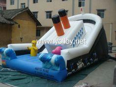 Titanic inflatable ship #slide