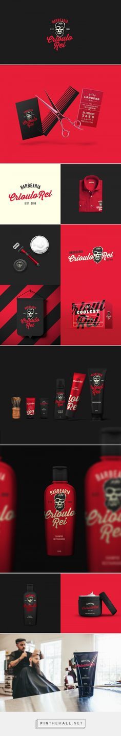 Crioulo Rei Barbershop Branding by Gabriel B Fagundes | Fivestar Branding Agency – Design and Branding Agency & Curated Inspiration Gallery  #barbershopbranding #branding #brand #design #designinspiration
