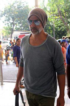 Akshay Kumar spotted at the Mumbai airport. #Bollywood #Fashion #Style #Handsome