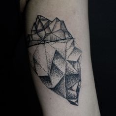 Crosshatchdot work. Inner arm Iceberg tattoo by Yanick Sasseville Mile End Tattoos Montreal http://sassevilletattoo.com/
