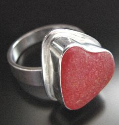 Heart ring. #red_sea_glass
