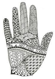 hand zentangle mandala pattern Doodle Art Drawing, Zentangle Drawings, Doodles Zentangles, Zentangle Patterns, Mandala Pattern, Pattern Art, Doodle Patterns, Drawing Ideas, Zantangle Art