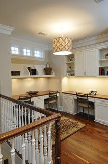Second floor landing idea.  Revere House - traditional - home office - chicago - by Designstorms