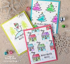 Hero Arts stamps and Kuretake Zig Clean Color Brush Markers. Projects by Wanda Guess for the Simon Says Stamp blog. December 2016