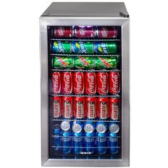 NewAir AB-1200 Stainless Steel Beverage Cooler - holds 126 beverage cans.