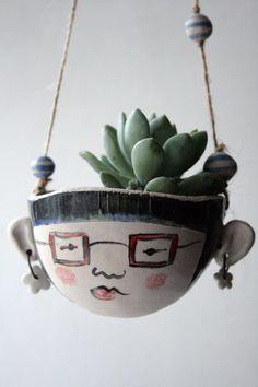 Ornement de hipster-jardin à la main en céramique par jolucksted