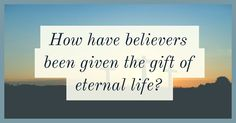 When we accept Jesus as our Lord and Savior... We are given eternal life! Amen!!