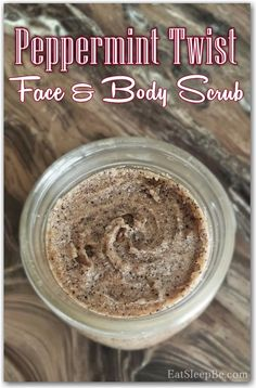Twist Face and Body Scrub Peppermint Twist Face and Body Scrub - Eat. Doubling makes 3 half pint mason jarsPeppermint Twist Face and Body Scrub - Eat. Doubling makes 3 half pint mason jars Body Scrub Recipe, Diy Body Scrub, Diy Scrub, Neutrogena, Half Pint Mason Jars, Coconut Oil Body Scrub, Body Butter, Shea Butter, Homemade Beauty