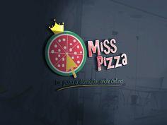 Progettazione logo per pizzeria. - Miss Pizza #logo #design #illustrator #grafica #pizza #graphic @graphiCreation