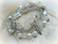 Wiccan charm bracelet. This would be a beautiful accessory on wedding day!