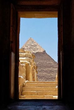 Pyramids, Cairo, Egypt.  My claustrophobic husband couldn't wait to get out of there to fresh air!!