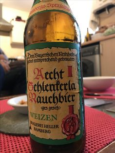 Smoked beer is a type of beer with a distinctive smoke flavour imparted by using malted barley dried over an open flame. The Rauchbiers of Bamberg in Germany, Schlenkerla in particular are the best-known of the smoked beers.