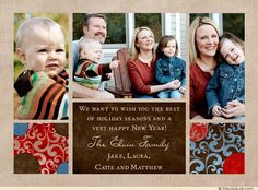 happy holidays photo collage card family winter cheer new year