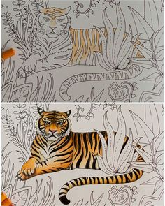 before and after ☺ #magicaljungle #johannabasford #coloring #coloringbook…