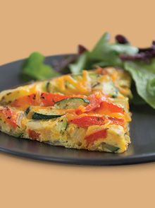 Hearty Veggie Frittata from I Can't Believe It's Not Butter: Find this easy and delicious recipe plus more at Meal Inspirations!