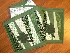 RESERVED fo MEGAN St. Patricks Day Quilted Table Runner