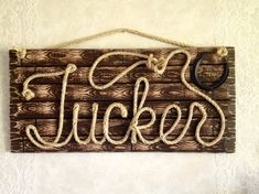 TUCKER : 32 Western Rope Name Sign with ROPE by RopeAndStyle