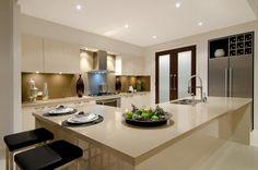 McDonald Jones display homes Sydney - Monaco One (Split) - Villa C facade Kitchen Board, New Kitchen, Kitchen Dining, Kitchen Ideas, Dining Room, Kitchen Layout, Kitchen Colors, Hotondo Homes, Mcdonald Jones Homes