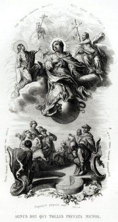 58.LITANIE LAURETANE: SS VERGINE MARIA.MADONNA.Religione.Acciaio.Capolavoro.1850