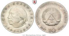 RITTER DDR, 10 Mark 1967, Kollwitz, J. 1519 #coins #numismatics