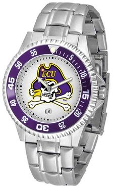 NCAA Men's East Carolina Pirates Competitor Steel Watch