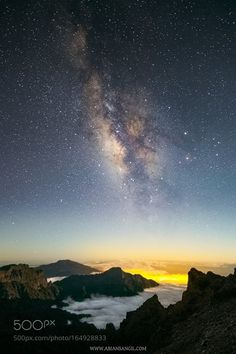Milky Way at moonset  Milky Way at moonset over Caldera de Taburiente National…