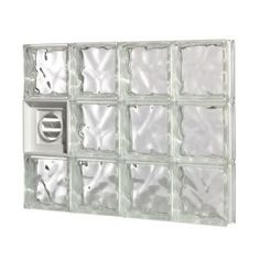 for the laundry corning guardwise 32 in decora pattern dryervented glass block at the home depot