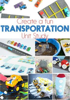 A transportation unit study is a great way to learn. Perfect for a transportation theme in preschool, kindergarten or elementary! via @lifeovercs
