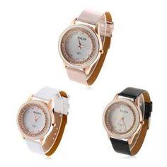 Modische Quarzuhr Armbanduhr mit Kautschuk Armband und Strass Dekoration