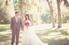looking at bride